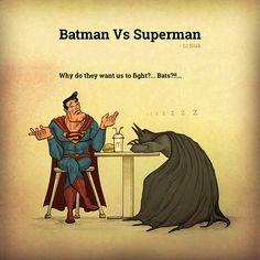 Batman vs Superman by Lt Blak, via Behance