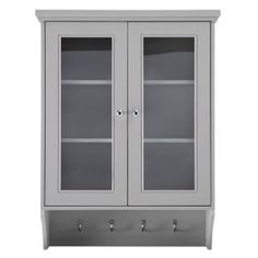 Foremost Gazette 23-1/2 in. W x 31 in. H Wall Cabinet in Grey GAGW2431 at The Home Depot - Mobile