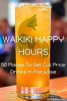 Waikiki Happy Hours: 50 Places To Enjoy Cut Price Drinks In Paradise Happy Hour Menu, Best Happy Hour, Hawaii Travel, Solo Travel, Travel Usa, Travel Guides, Travel Tips, Travel Advice, Late Night Happy Hour