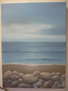 Sand and pebbles. Oil on canvas