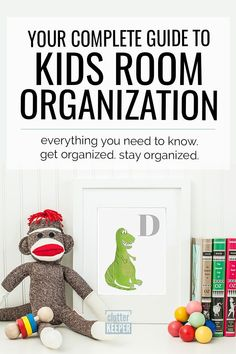 Discover step-by-step instructions for how to organize your kid's room. Find easy toy and clothes storage solutions in this kids room organization guide. Clothes Storage Solutions, Minimalist Kids, Kids Room Organization, Family Organizer, Creative Decor, New Kids, Bedroom Ideas, Girls Bedroom, Kids Rooms
