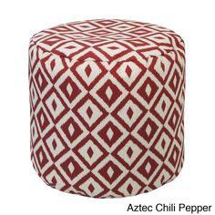 With several different color and pattern options, this outdoor/indoor ottoman is the perfect way to relax. Double-stitched and filled with virgin expanded beans, this bag is ideal for patios, pools or living rooms.