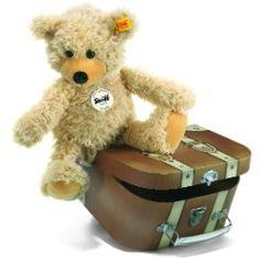 Peluche souple Steiff, Charly, 30cm, beige, dans un coffre