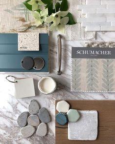 Mood Board Interior, Interior Design Boards, Interior Design Inspiration, Design Ideas, Custom Consoles, Material Board, Design Palette, Guest Bathrooms, Colour Board
