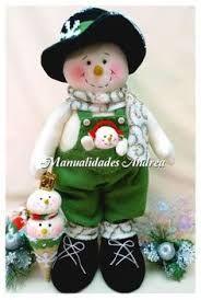 Resultado de imagen para moldes de muñecos de nieve en fieltro