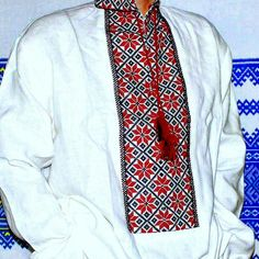 Ukrainian embroidered linen shirt vyshyvanka. Easter gift for him.