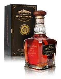 Engraved Jack Daniels single malt