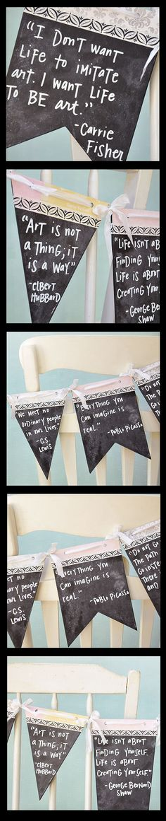 Click the pic to see how to make this inspiring chalkboard banner!