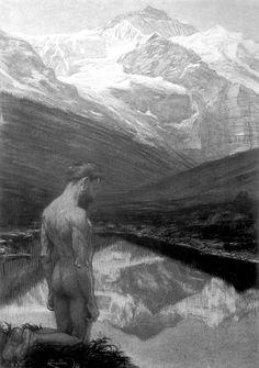 Frantisek Kupka, Méditation, 1899, pastel, Ostrava, Museum of Fine Arts