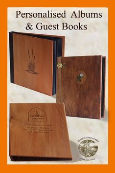 Personalized Leaving Gift Idea Timber memory book This is a unique personalized gift for a retirement or leaving present. Come and see us we are only a click away