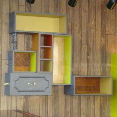 Custom Upcycled Retail Display sustainable design, sustainable materials, sustainable decor