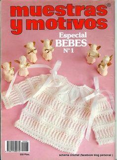 MUESTRAS Y MOTIVOS especial bebés n.1 Knitting Magazine, Crochet Magazine, Baby Patterns, Knitting Patterns, Crochet Patterns, Knitting Books, Baby Knitting, Knitted Baby Clothes, Baby Knits