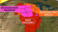 Over 42 million people are under a heat alert Wednesday with heat index's over 100 degrees in some places.