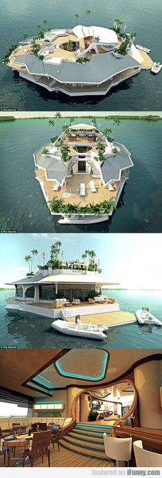 Magnificent Floating Island Boat