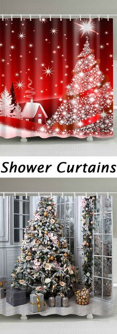 How to decorate your Bathroom?Best shower curtains to buy now.Free Shipping Worldwide! Christmas Shower Curtains, Cool Shower Curtains, Noel Christmas, All Things Christmas, Holiday Fun, Holiday Decor, Christmas Crafts, Christmas Ornaments, Christmas Ideas