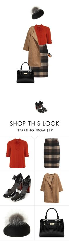 """""""Mary Janes & Pom Pom Baret"""" by lorantin ❤ liked on Polyvore featuring Dorothy Perkins, Topshop, H&M, Eugenia Kim and Coccinelle"""