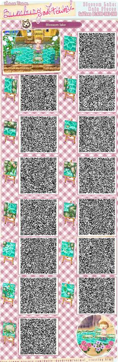 Lake QR with nice internal corners from http://www.vivcore.com/dolly_daydream/acnl_blossom_lake.html Also at DC: 4700-3143-2610