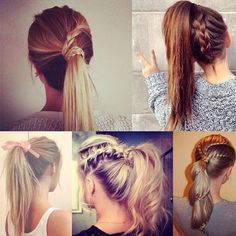 7 Easy and Chic Ponytail Hairstyle for Girls Back to School ❤ liked on Polyvore featuring hair, hairstyles and hair styles