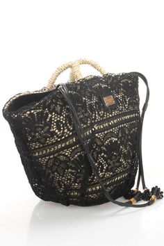 Dolce & Gabbana Coffa Pizzo Shopping Bag...ok, I have some black lace tucked away somewhere... and an old rope bag...