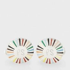 Paul Smith Men's Cufflinks | Signature Stripe Ray Cufflinks