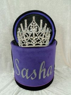 Every Queen Deserves a Beautiful Bespoke Crown Box - Order Yours Now To Fit in Your Stunning Crown/Tiara. Tiaras And Crowns, Silver Glitter, Pageant, Crushes, Purple, Box, Prints, Black, Snare Drum