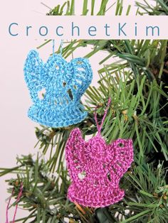 CrochetKim Free Crochet Pattern | Mini Angel Ornaments @crochetkim