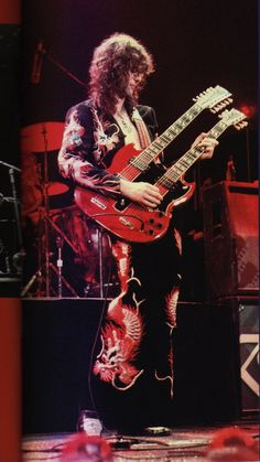 Jimmy Page and his Dragon Suit
