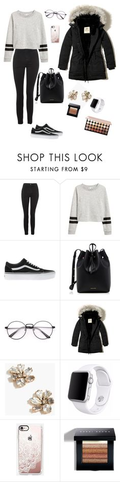 """Autumn 2017"" by wendyfashion on Polyvore featuring Topshop, Vans, Mansur Gavriel, Hollister Co., J.Crew, Apple, Casetify and Bobbi Brown Cosmetics"