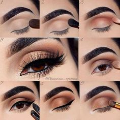 Brown and Gold Smokey Eye Tutorial for Brown Eyes #makeupvideos