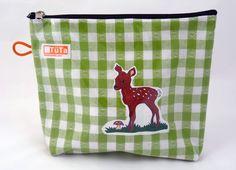 Bambi lässt grüßen! Mini-Kulturtasche Rehkitz von TüTa von TueTa auf DaWanda.com
