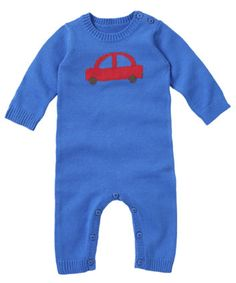 Mothercare Knitted All In One - Blue