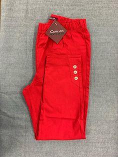 Spodnie z bengaliny Cevlar B03 kolor czerwony - Big Sister