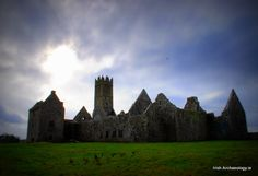 The ruins of Ross Errily Friary, Co. Galway, Ireland