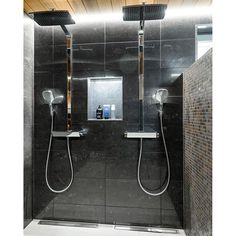 Double rainfall shower wetroom great for srx and bathing together