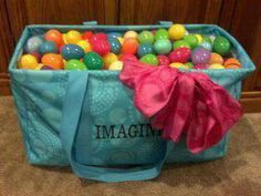 Easter Egg hunts just got a lot easier with the Thirty One large utility tote Thirty One Games, My Thirty One, 31 Party, Thirty One Consultant, Independent Consultant, Large Utility Tote, Thirty One Business, 31 Gifts, Easter Gift