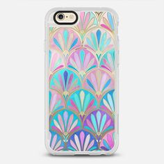 Glamourous Twenties Art Deco Pastel Pattern - New Standard iPhone 6/6S #Protective Case in Clear and Clear by @micklyn #phonecase | @casetify