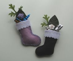 Emma Lulu - Felt Christmas Stocking Pins tutorial - ideal for hanging from the mantel