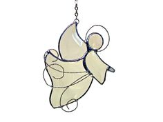 Image detail for -Stained Glass and Crystal Angel Christmas Ornaments