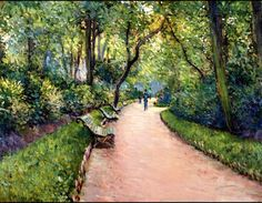 Gustave Caillebotte, The Parc Monceau on ArtStack #gustave-caillebotte #art