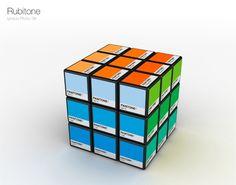 Rubicks Cube aux couleurs Pantone
