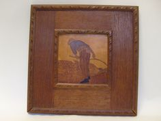 Panel, Reaping, 1912–1920 This panel was made by Albert James Rowley (1877–1944), a member of the Arts and Crafts movement. Although this piece is entitled Reaping, the figure is using a scythe not a sickle. A more accurate title would be Mowing. By the time this panel was made sickles and scythes were giving way to machines. (MERL/2009/26)