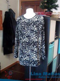 Uma túnica feita pela minha aluna Conceição Silva nas aulas de costura Lina Matias.