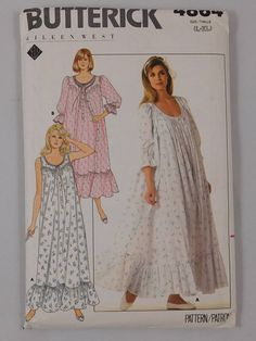 Misses' Robe and Nightgown Sewing Pattern Butterick 4864