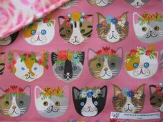PRETTY LADIES Catnip Blanket   Adorable Cotton Print ..  So Many Pretty Kitties ! Rose Print Fleece for the Reverse Side . The Blanket has a Generous Hand Full of 100% Organic Catnip Grown in Montana .. ONLY THE BEST !!!!!!!  18″ X 24″ IN SIZE
