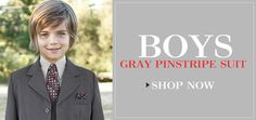 Boys suits and tuxedos starting at $19.99