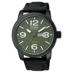 Citizen Men's Eco-Drive Canvas Stainless Steel Watch. Good looking watch.
