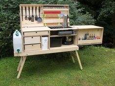 How to Build Your Own Camp Kitchen Chuck Box | Pinterest ...