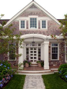 If that's the case, here are a few exterior house style that's widely used by several people around the world. One of the major elements to decorating your house with true Cape Cod design in mind is to focus on… Continue Reading → Style At Home, Keitel Haus, Exterior Design, Interior And Exterior, Exterior Windows, Exterior Siding, Exterior Paint, Home Interior, Modern Interior