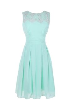 Sweet A-line Jewel Knee-length Bridesmaid/Prom/Homecoming Dress With Appliques