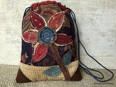 MINI DRAWSTRING CINCHSACK Back Pack-Youth by WhimsyEyeDesigns